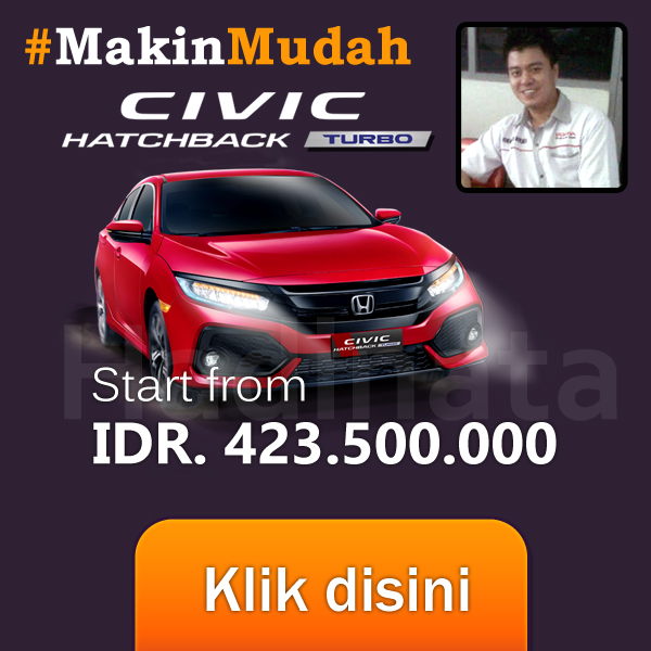 HARGA HONDA PALEMBANG CIVIC HATCHBACK TURBO SALES HADINATA