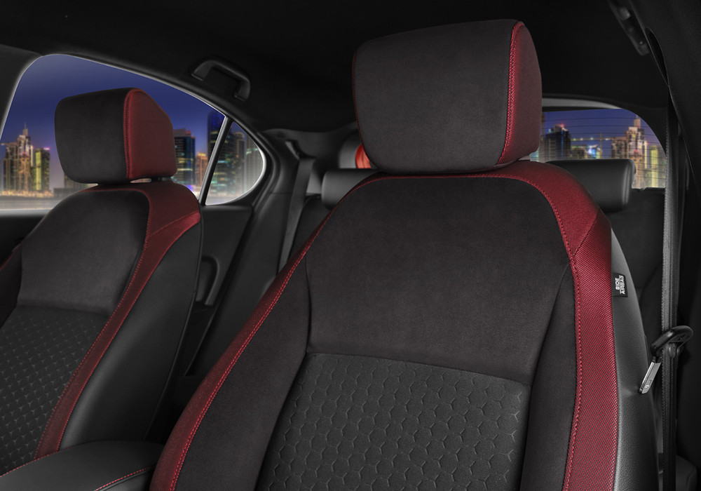 Suede-Fabric-Leather Combi Trimmed Seats
